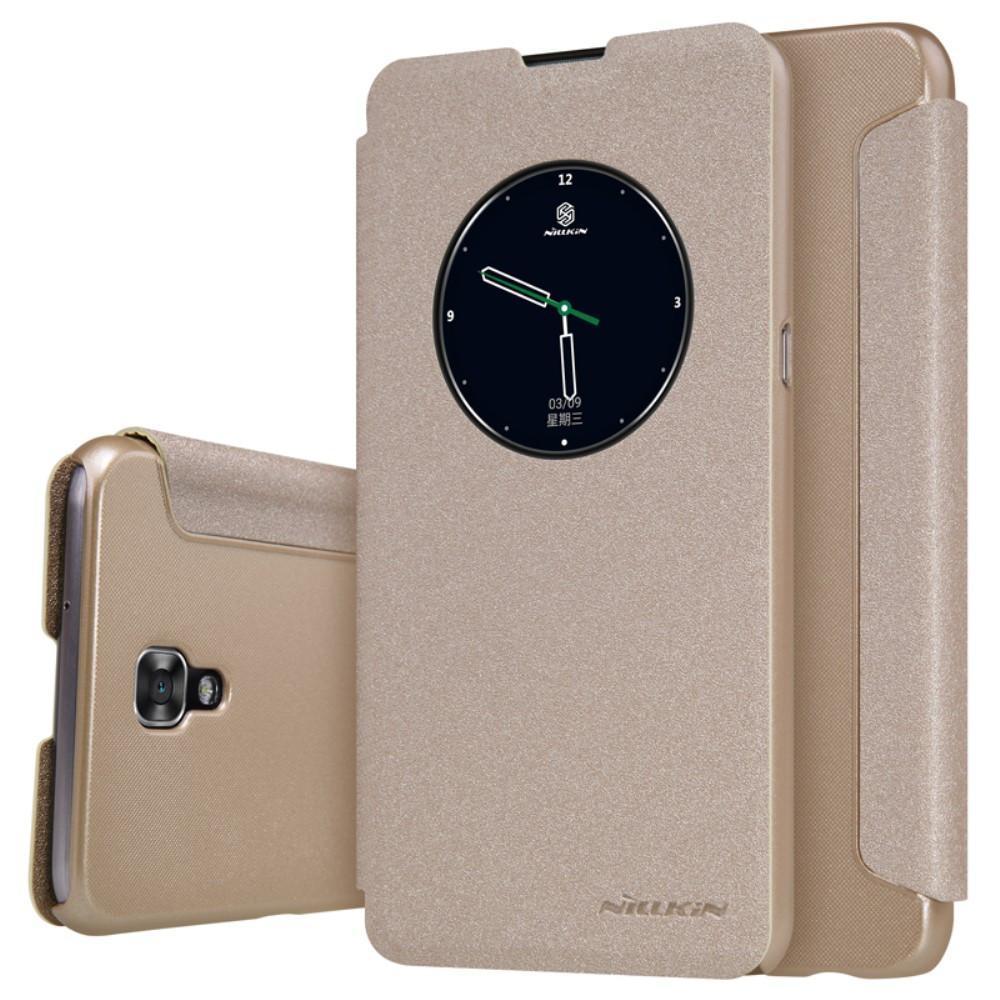 Чехол-книжка Nillkin Sparkle Series для LG X View  (K500DS) пластик-полиуретан (золотой)для LG<br>Чехол-книжка Nillkin Sparkle Series для LG X View  (K500DS) пластик-полиуретан (золотой)<br>