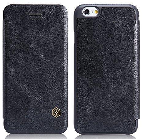 Купить со скидкой Чехол-книжка Nillkin QIN Leather Case для Apple iPhone 6 Plus/6S Plus натуральная кожа (черный)
