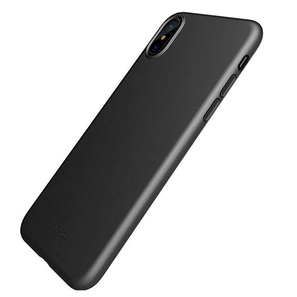 Чехол-накладка ультратонкий 0.3mm для Apple iPhone X (10) силикон (черный) фото