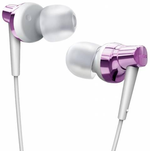 Проводная стерео-гарнитура Remax RM-575 (вакуумные с микрофоном) фиолетовыеНаушники<br>Проводная стерео-гарнитура Remax RM-575 (вакуумные с микрофоном) фиолетовые<br>