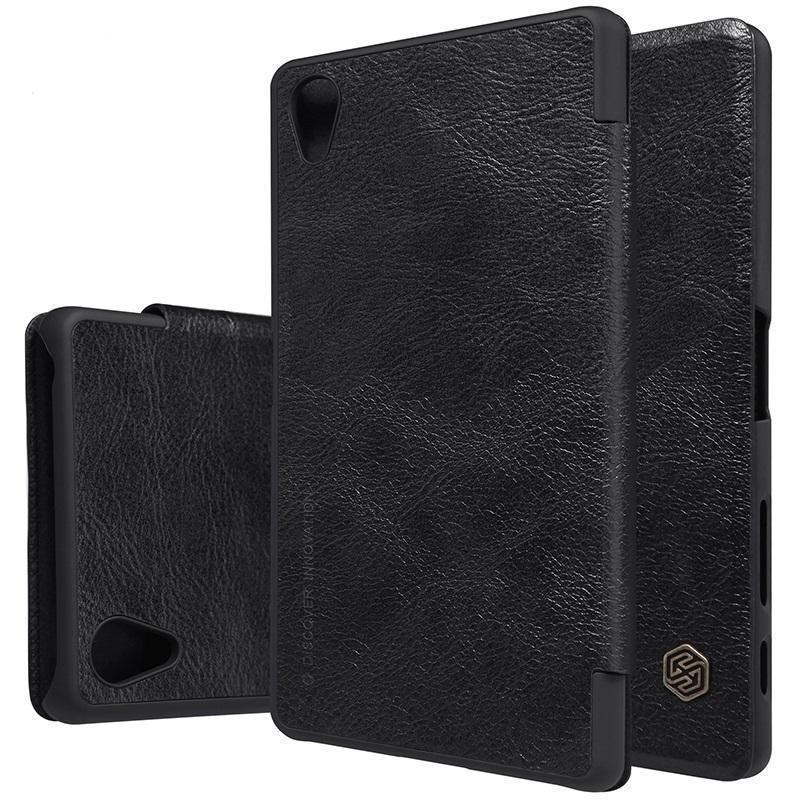 Чехол-книжка Nillkin QIN Leather Case для Sony Xperia X / X Performance  натуральная кожа черныйдля Sony<br>Чехол-книжка Nillkin QIN Leather Case для Sony Xperia X / X Performance  натуральная кожа черный<br>