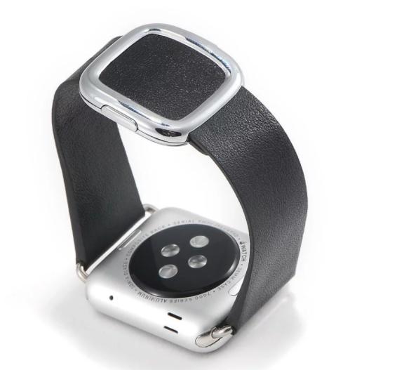 Купить со скидкой Ремешок с современной пряжкой COTEetCI W5 Nobleman для Apple Watch Series 1/2/3 38mm черный