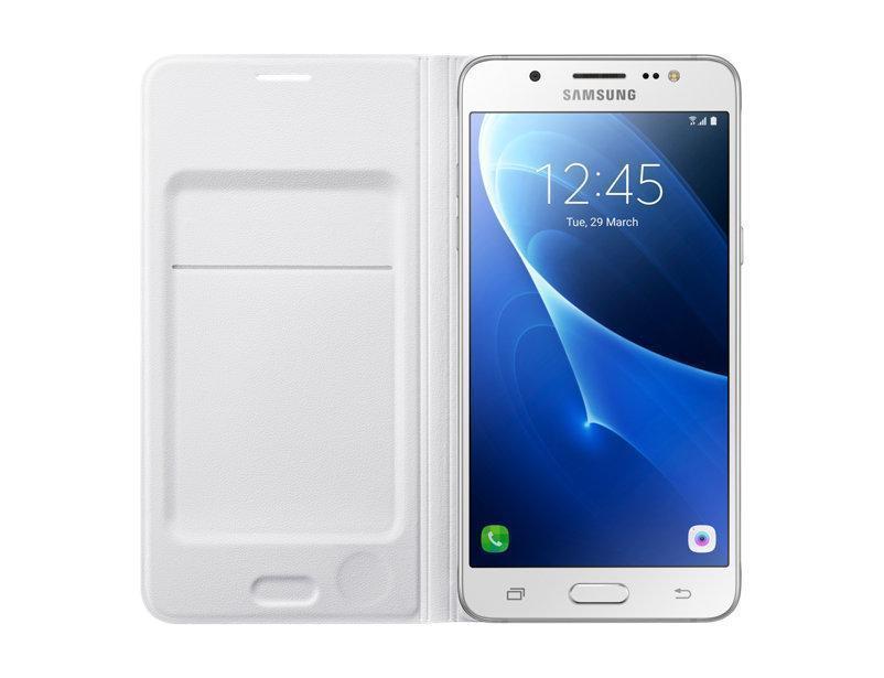 Чехол-книжка Samsung Flip Wallet для Galaxy J5 (2016) поликарбонат,полиуретан белый EF-WJ510PWEGRU