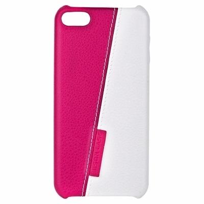 Чехол-накладка Jisoncase Slim Fit для Apple iPod touch 5 / iPod touch 6 двухцветный розовый с белым